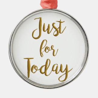 Gerade für Tag-Erholungszitat OM-Na-Slogangeschenk Silbernes Ornament