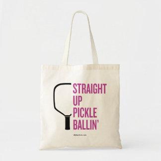 """Gerade hohe Essiggurke Ballin'"" Pickleball Budget Stoffbeutel"