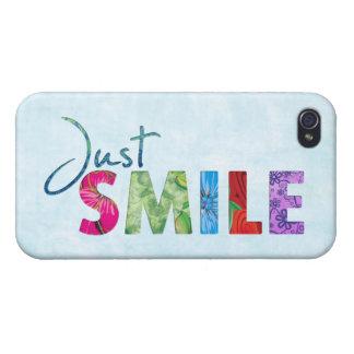 Gerade Lächeln-glückliches Zitat 01 iPhone 4/4S Hülle