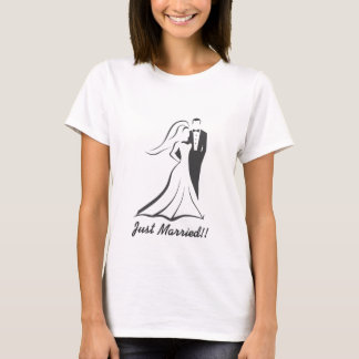 Gerade verheiratet!! Flitterwochen-Gang T-Shirt