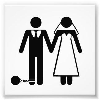 Gerade verheiratet, unter neuem Management Kunst Foto
