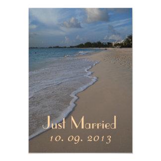 Gerade verheiratete 12,7 x 17,8 cm einladungskarte