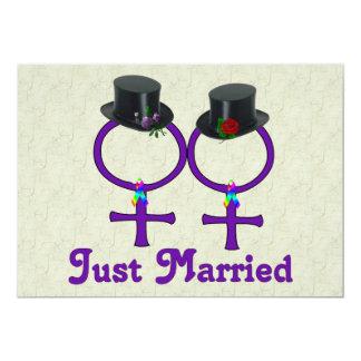 Gerade verheiratete formale Lesbe 12,7 X 17,8 Cm Einladungskarte