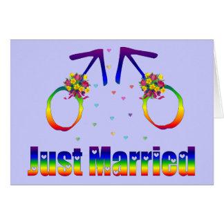 Gerade verheiratete homosexuelle Männer Grußkarte