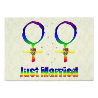 Gerade verheiratete Lesben 12,7 X 17,8 Cm Einladungskarte