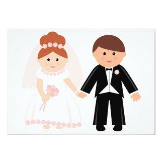 Gerade verheiratete Paar-Einladungen 12,7 X 17,8 Cm Einladungskarte