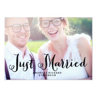 GERADE VERHEIRATETE %PIPE% WEDDING FOTO-KARTE 12,7 X 17,8 CM EINLADUNGSKARTE