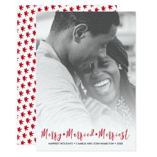 Gerade verheiratetes frohste 12,7 x 17,8 cm einladungskarte