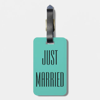 Gerade verheiratetes koffer anhänger