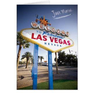 Gerade verheiratetes Las Vegas Mitteilungskarte