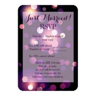 Gerade verheiratetes Stellen und Herzen UAWG 8,9 X 12,7 Cm Einladungskarte