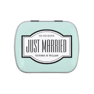Gerade verheiratetes vorratsdose