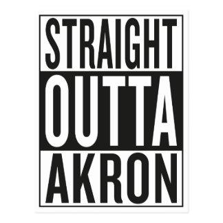 gerades outta Akron Postkarte