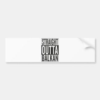 gerades outta Balkan Autoaufkleber