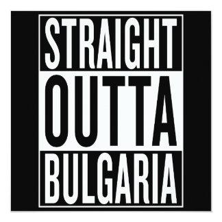 gerades outta Bulgarien Quadratische 13,3 Cm Einladungskarte