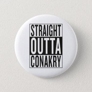 gerades outta Conakry Runder Button 5,1 Cm