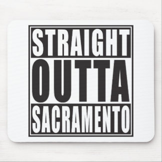 Gerades Outta Sacramento Kalifornien Mauspad