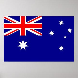 Gerahmter Druck mit Flagge von Australien Poster