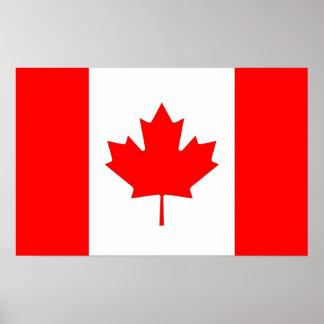 Gerahmter Druck mit Flagge von Kanada Poster