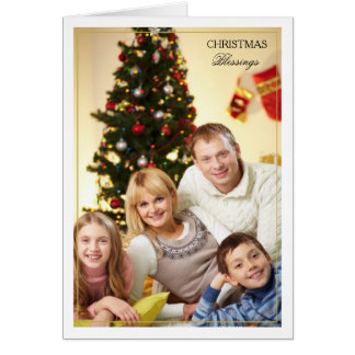 Gerahmter Weihnachtssegen-vertikale Foto-Karte Karte