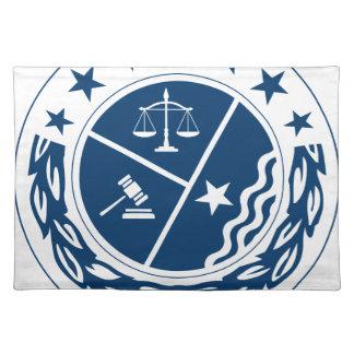Gerechtigkeits-Anhänger-Wappen Stofftischset