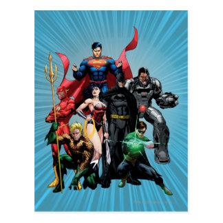 Gerechtigkeits-Liga - Gruppe 2 Postkarten