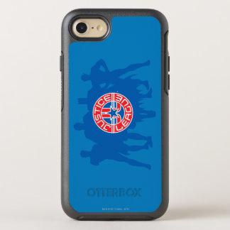 Gerechtigkeits-Liga-Logo und fester OtterBox Symmetry iPhone 8/7 Hülle