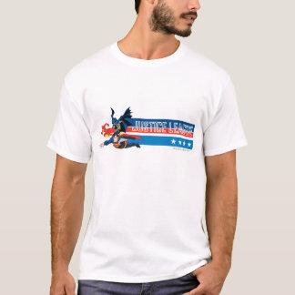 Gerechtigkeits-Liga-US Flagge T-Shirt