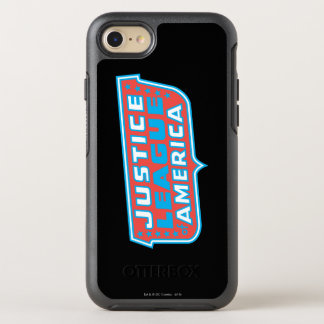 Gerechtigkeits-Liga von Amerika-Logo OtterBox Symmetry iPhone 8/7 Hülle
