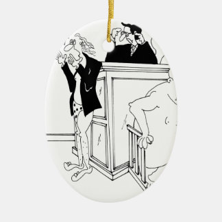 Gerichts-Cartoon 5490 Keramik Ornament