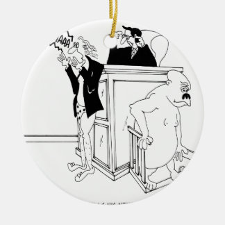 Gerichts-Cartoon 5490 Rundes Keramik Ornament