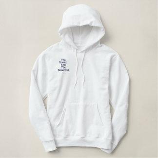 Gerollt und schön, bestickter hoodie