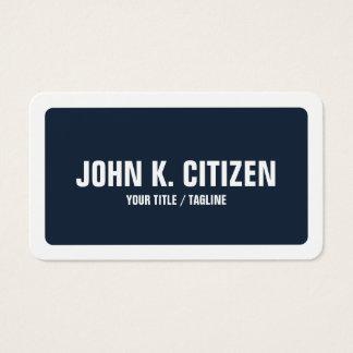 Gerundete blauer u. weißer mutiger Text-breite Visitenkarte