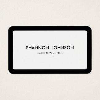 Gerundete weiße und schwarze Grenze minimal Visitenkarten