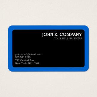 Gerundetes blaues Grenzschwarz-minimales Visitenkarten