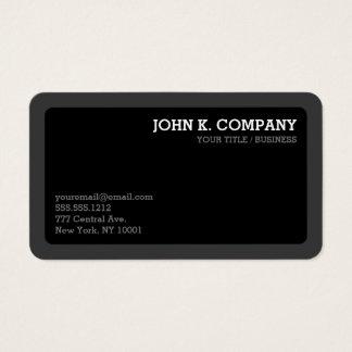 Gerundetes dunkelgraues u. schwarzes minimales visitenkarte