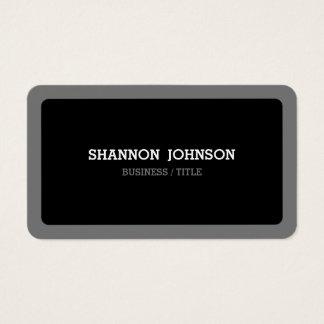 Gerundetes schwarzes und graues minimales modernes visitenkarten