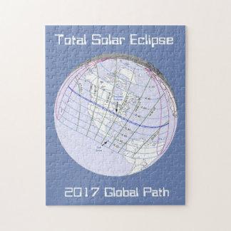 Gesamtglobaler Weg der Sonnenfinsternis-2017 Puzzle