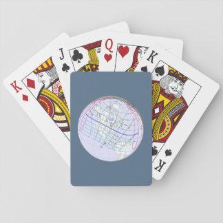 Gesamtglobaler Weg der Sonnenfinsternis-2017 Spielkarten