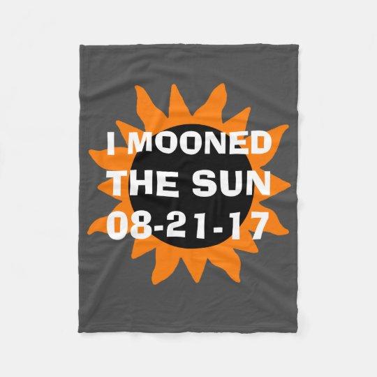 GesamtSonnenfinsternis Mooned ich den Sun Fleecedecke