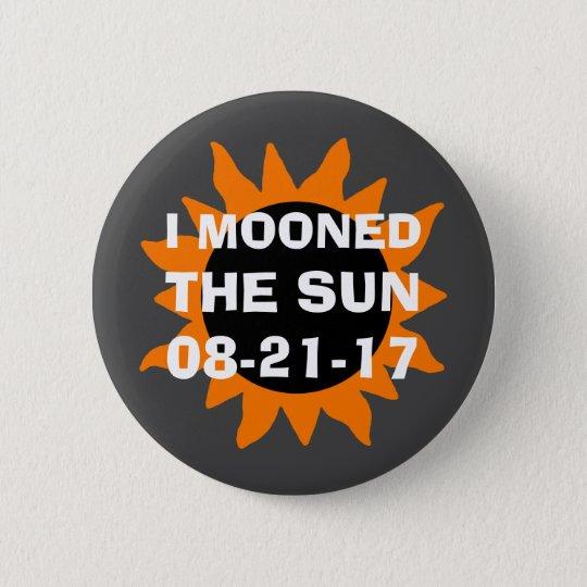 GesamtSonnenfinsternis Mooned ich den Sun Runder Button 5,1 Cm