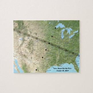 GesamtSonnenfinsternis-Weg-Karte 2017 Puzzle