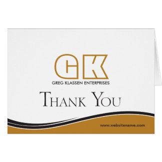 Geschäft danken Ihnen Mitteilungskarte
