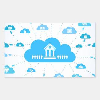 Geschäft ein cloud3 rechteckiger aufkleber