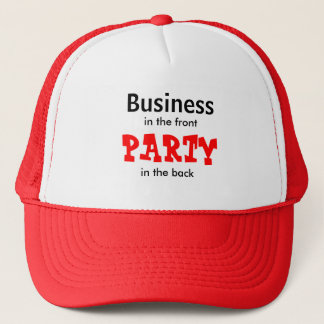 Geschäft, in der Front, PARTY, in der Rückseite Truckerkappe