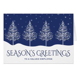 Geschäfts-Angestellt-Anerkennungs-Feiertags-Grüße Mitteilungskarte