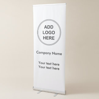 Geschäfts-Fahnen-Logo-Entwurf Ausziehbarer Banner