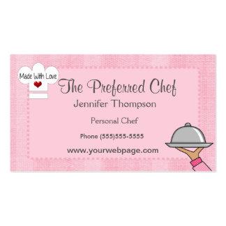 Geschäfts-Karten Damen-Chef Hat Visitenkarten