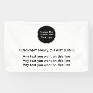Geschäfts-Logo-Fahnen-Schablone Banner