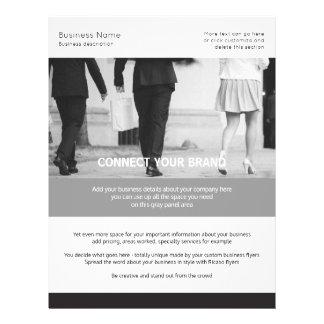 Geschäfts-nach Maß themenorientiertes Schwarzweiss 21,6 X 27,9 Cm Flyer